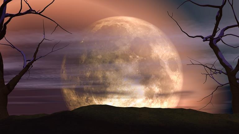 денежный заговор на луну